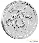 Australien $ 1 Silber Lunar II Schlange 2013