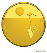 Australien $ 100 Känguru im Sonnenuntergang 1 oz Gold 2017