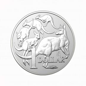 Australien $ 1 Silber Mob of Roos RAM 2019 st