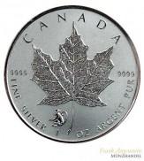 Canada $ 5 Silber 1 oz Maple Leaf 2016 Privy Affe