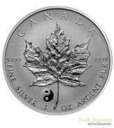 Canada $ 5 Silber 1 oz Maple Leaf 2016 Privy Yin Yang