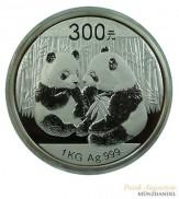 China 300 Yuan Silber Panda 2009 1 Kilo PP