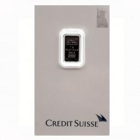 Credit Suisse/Valcambi Platinbarren Motiv Liberty 1 g .9995 Pt
