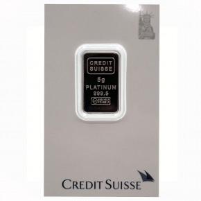 Credit Suisse/Valcambi Platinbarren Motiv Liberty 5 g .9995 Pt
