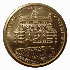 Tschechien 2500 Kronen Brauerei Pilsen 1/4 oz Gold BU 2008