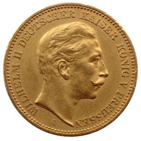 Deutsches Kaiserreich 20 Mark Preussen Wilhelm II. Gold 1900 A