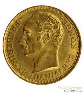 Dänemark 10 Kronen Gold 1909 Friedrich VIII