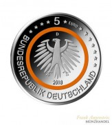 Deutschland 5 Euro subtropische Zone 2018 BU F Stuttgart