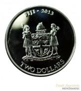 Fiji $ 2 Silber Taku Schildkröte 2013