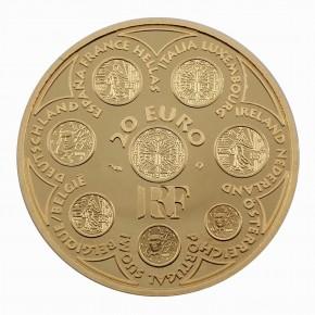 """Frankreich 20 Euro Gold """"Einführung des Euro"""" 2002"""