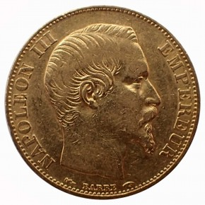 Frankreich 20 Francs Napoleon III Gold 1854 A