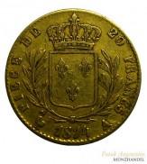Frankreich 20 Francs Gold Ludwig XVIII. 1814 A Paris