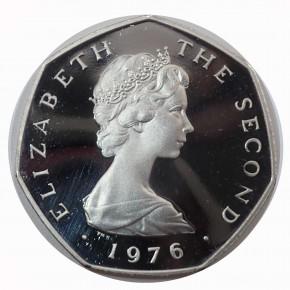 Isle of Man 50 Pence Platin 1976