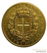 Italien-Sardinien 20 Lire Gold Karl Albert 1849