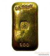 Goldbarren J.A.REY 100 g .9999 Gold gegossen
