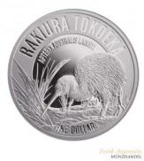 Neuseeland $ 1 Silber Kiwi 2017 Polierte Platte -  Rakiura Tokoeka
