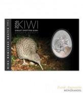 Neuseeland $ 1 Silber Kiwi 2016 Blisterversion  - Apteryx Haastii