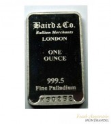 Baird Palladiumbarren 1 oz .9995 Pd - Sekundärware