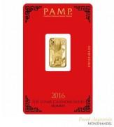 Goldbarren Pamp Suisse 5 g .9999 Gold Motiv Lunar Affe