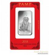 Silberbarren Pamp Suisse 1 oz .999 Silber Motiv Lunar Hund 2018