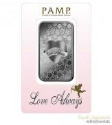 Silberbarren Pamp Suisse 1 oz .999 Silber Motiv Love Always