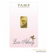 Goldbarren Pamp Suisse 5 g .9999 Gold Motiv Love Always