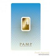 Goldbarren Pamp Suisse 5 g .9999 Gold Motiv Mekka