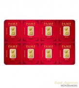 Goldbarren Multigram Pamp Suisse 8 x 1 g .9999 Gold Lunar Motiv Affe