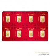 Goldbarren Multigram Pamp Suisse 8 x 1 g .9999 Gold Lunar Motiv Hahn