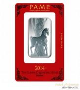 Silberbarren Pamp Suisse 1 oz .999 Silber Motiv Pferd