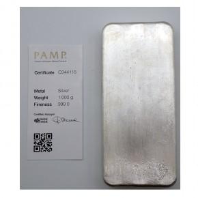 Pamp Suisse Silberbarren 1 Kilo .999 Silber Neuware