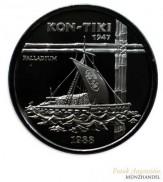 Samoa 1 oz Palladium 50 Tala Kon-Tiki 1988