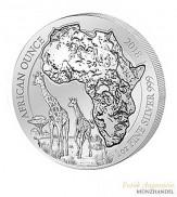 Ruanda 50 Francs 1 oz Silber African Ounce Giraffe 2018 BU