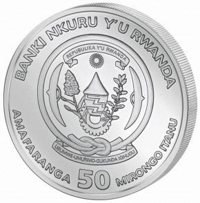 Ruanda 50 Francs 1 oz Silber Nautical Ounce Sedov 2021 PP
