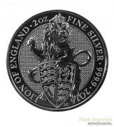Großbritannien 5 Pfund The Queens Beast Silber 2016