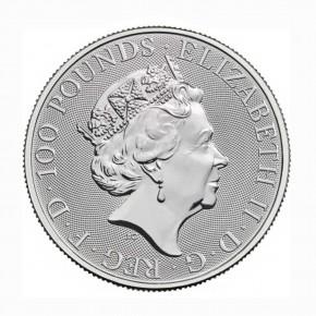 Großbritannien 100 GBP Britannia 1 oz Platin 2021