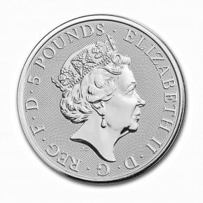 Großbritannien 5 Pfund White Greyhound .999 Silber 2021