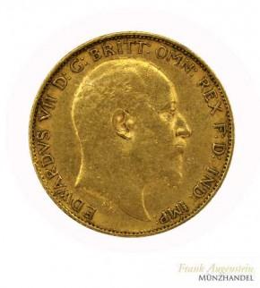 Großbritannien 1/2 Pfund Gold Sovereign Edward VII