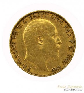 Großbritannien 1/2 Pfund Gold Sovereign Edward VII