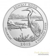 "USA $ 0,25 ""America the beautiful"" Bombay Hook - Delaware 5 oz Silber 2015"