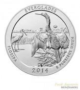 "USA $ 0,25 ""America the beautiful"" Everglades - Florida 5 oz Silber 2014"