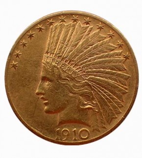 USA $ 10 Indian Head Gold 1910