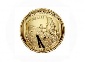 USA $ 5 Gold PP Apollo 11 50. Jahrestag Mondlandung 2019