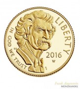 USA $ 5 Gold PP Mark Twain 2016