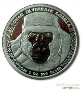 Kongo 5000 Francs Gorilla Kongo Gorilla Silberrücken 1 oz Silber 2016