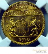 25 Gulden Danzig 1930 Gold J. D11 NGC MS 65