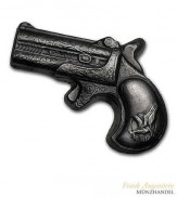 Silberbarren Derringer Pistole 7 oz .999 Silber gegossen