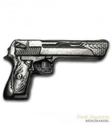 Silberbarren Desert Eagle Pistole 5 oz .999 Silber gegossen
