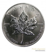 Canada $ 50 Maple Leaf 1 oz .9995 Palladium