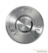 Silberbarren Munition Kaliber .308 2 oz .999 Silber incl. Schatulle